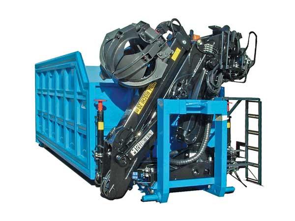Container scarrabile in XAR 450 Con gru MARCHESI M12RT, braccio ripieghevole