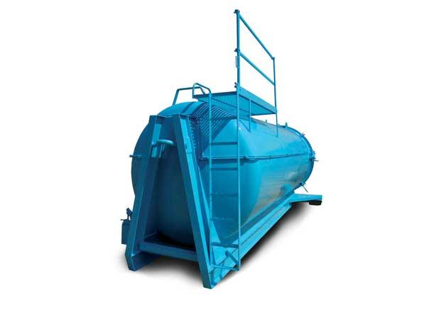 Cisterna scarrabile in S275JR Capacità lt. 15.000 con portellone ad apertura idraulica